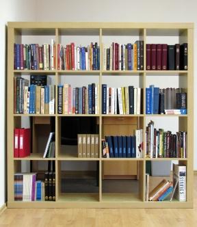 Některé z knih v knihovně